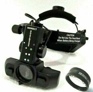 New Rechargeable Led Indirect Ophthalmoscope With 20 D Lens Accessories