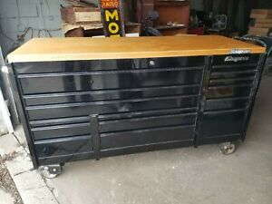 Snap On Ktl7023 Rolling Tool Box Cabinet Black Triple Bank