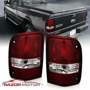 For 2001 2011 Ford Ranger Pickup Dark Red Oe Replacement Tail Light Left Right