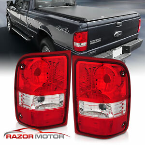 For 2001 2011 Ford Ranger Pickup Red Clear Oe Replacement Tail Light Left right