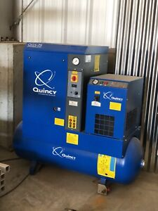 Quincy Qgs 7 5 Rotary Screw Air Compressor And Packaged Air Dryer