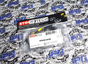Stoptech Front Steel Braided Brake Lines Fits 2000 2003 Honda S2000 Ap1