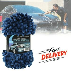 Ultra Soft Microfiber Sponge For Car Powerful Cleaning Washing Dual Sided Mitt