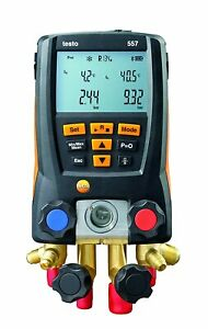 Testo 557 Digital Manifold 4 valve Gauge Hoses Thermo Clamps Bluetooth