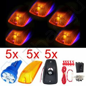 5pcs Amber Cab Marker Clearance Light T10 12v Led For Gmc Truck Wiring switch