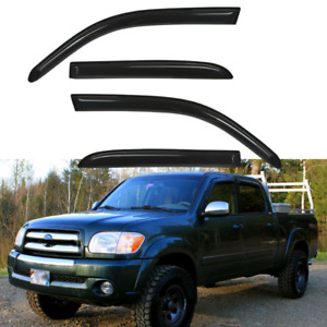 Window Vent Visor Rain Guard For Toyota Tundra Double Cab 2004 2005 2006