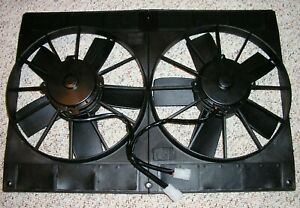 Tri 5 Chevy 1955 56 57 Dual 11 Electric Radiator Cooling Fan Twin Fans Bel Air