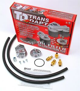 Trans dapt Performance Products 1113 Single Oil Filter Relocation Kit