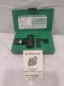 New Greenlee Rs232 Panel Punch 25 Pin D subminiature