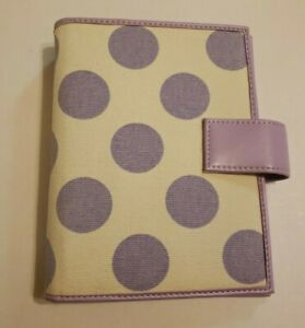 365 Franklin Covey White With Purple Polka Dots Planner