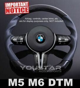 D Type Carbon Leather M Sport Dtm Steering Wheel For Bmw M5 M6 F10 F12 F06 F07