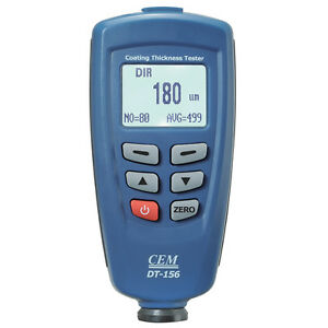 High Quality Cem Dt 156 Car Metal Paint Coating Thickness Tester Meter Gauge