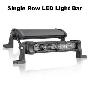 2x 8 Cree Single Row Super Slim Led Work Light Bar Spot Flood Ff Road 4wd 12v