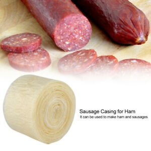 8m Natural Sausage Casings Skins Collagen Casings For Smoked Or Fresh Sausage 1x