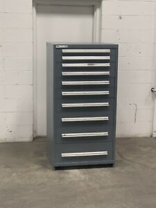 Used Stanley Vidmar 10 Drawer Cabinet Industrial Tool Parts Storage Chest 204