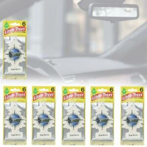 Little Trees Car Air Freshener True North Long Lasting Strong Smell Scent 6 Pack