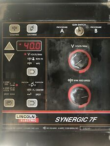 Lincoln 10254 Synergic 7f Control Panel Power Wave Mig Robotic Welder