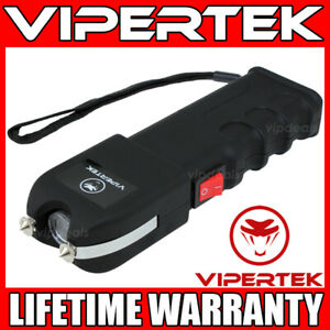 Vipertek Stun Gun Vts 989 550bv Heavy Duty Rechargeable Led Flashlight