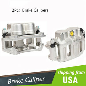 2pcs Front Left Right Brake Calipers W Bracket For Ford F 150 1996 2004 Lobo