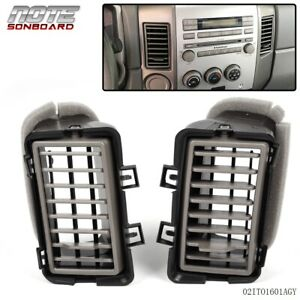For Nissan 2004 2006 Titan Armada Front Inner Right Left Dash Air Vent Grille