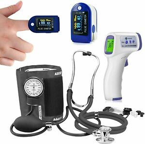 Thermometer Pulse Oximeter Blood Oxygen Spo2 Monitor Blood Pressure stethoscope