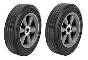 2pc 8 Universal Replacement Solid Rubber Tire Wheel For Dolly Hand Truck Cart