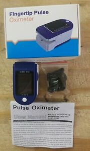Fast Same Day Shipping Pulse Fingertip Oximeter Oxygen Monitor Blue Fhfy New