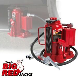 Big Red Air Hydraulic Bottle Jack 20 Ton Manual Hand Pump Automotive Car Lifting
