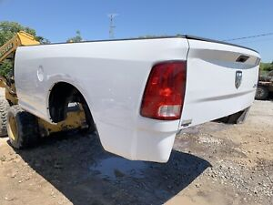 09 18 Dodge Truck 8 Bed Rust Free Ram Long Box Tailgate 1500 2500 3500 White