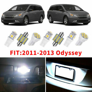 19x Led Interior Dome Map Lights Bulbs Package Kit White For 11 13 Honda Odyssey