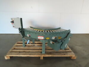 Hytrol 90 Live Powered Roller Curve Conveyor 13 208 230 460v 3ph 41fpm