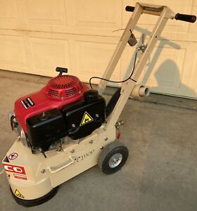 Edco Tg 10 11h Gas Powered 10in Concrete Grinder W 11hp Engine runs Sharp