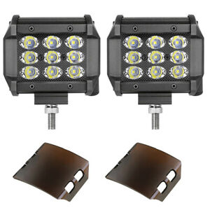 2x 6 Inch Led Work Light Bar Super Slim Spot Flood 6000k Off Road Truck Atv 12v