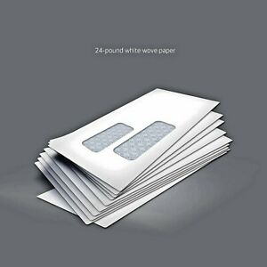 500 pack 9 Envelopes Peel Seal Double Window Security Tinted