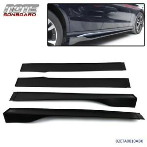 For Universal Car Side Skirt Extension Rocker Panel Body Kit Lip Splitters 4pcs