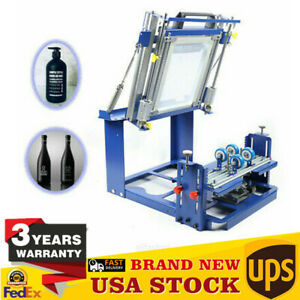 Curved Screen Printing Machine Manual Cylinder Press Printer Kit Cylindrical Usa
