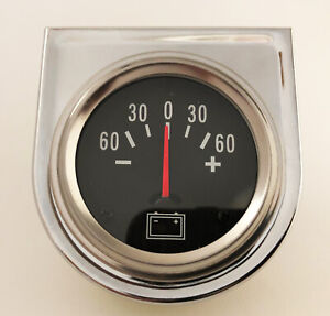 Auto Ammeter Gauge Meter Chrome Car Boat Truck Atv 12 Volt 60 0 60 Amp Hot Rod