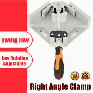 Single Handle 90 Degree Right Angle Clamp Photo Frame Corner Clip Woodworking Us