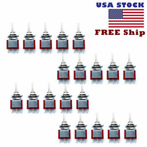 20pcs 6 Pin Dpdt On off on 3 Position Mini Toggle Switches Mts 203 Us Free Ship