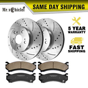 280mm Front Drilled Slotted Brake Rotors Ceramic Pads For Vw Beetle 1998 2011
