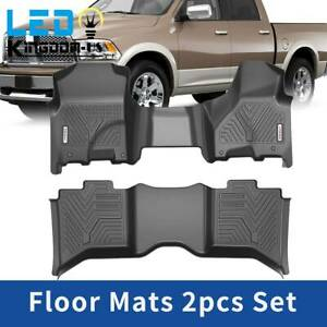 All Weather Floor Mats For 2012 2018 Ram 1500 2500 3500 Crew Cab Bench Seats Set