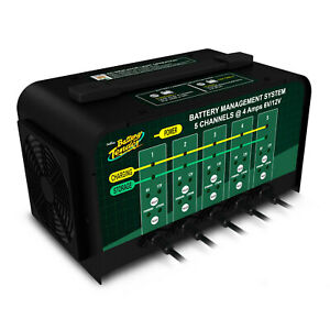 Battery Tender Battery Charger 5 Bank 12 6v 4a 4 Step Charge W 5 Output Cables