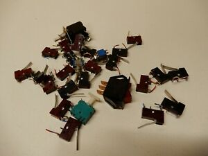 Huge Lot Micro Switches 25 Plus Toggles Too E62 Cherry Used