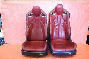 2015 Lexus Rc F Coupe Oem Red Leather Lh Rh Front Seat Pair Wear 1109