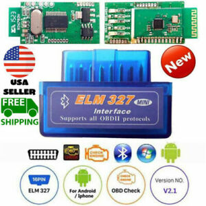 Elm 327 V2 1 Car Bluetooth Obd2 Scanner Code Reader Automotive Diagnostic Obdii
