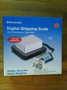 Brecknell Digital Shipping Scale 150 Pound Capacity Model Ps150 Battery Operated