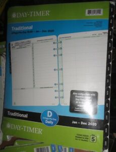 Day timer 2020 Two page per day Traditional Planner Refill Sz 5 Large Desk