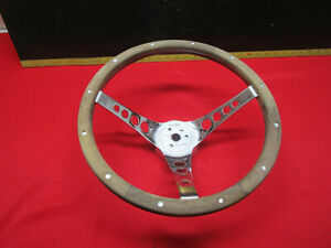 Vintage Superior 500 Steering Wheel 13 1 2 Wood