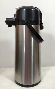 Service Ideas Airpot Brushed Stainless Steel Coffee Dispenser Pump 2 2 Liter