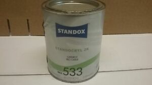Standox Solvent 2k Solid Colour 1 Litre Mixing Tinter 599 Standocryl